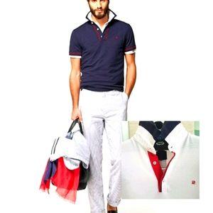 Carolina Herrera White Cotton Polo Shirt,  Large